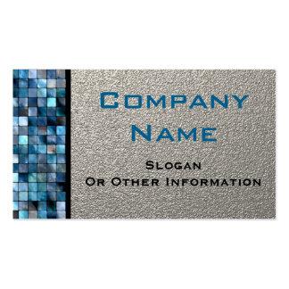 Tarjetas de visita azules de las tejas de mosaico