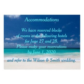 Tarjetas de visita azules de los alojamientos del
