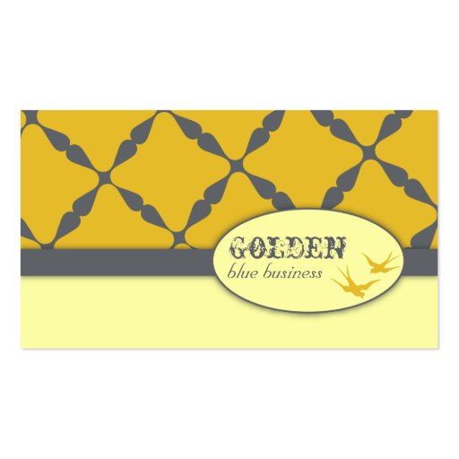 Tarjetas de visita azules de oro