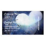 Tarjetas de visita azules del diseño del corazón