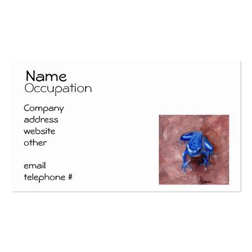Tarjetas de visita azules del Froggy