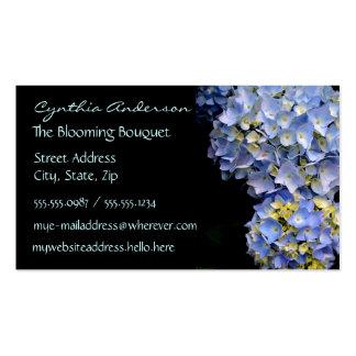 Tarjetas de visita azules del Hydrangea