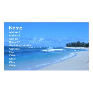 Tarjetas de visita azules del océano