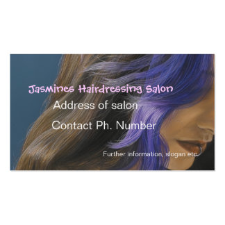Tarjetas de visita azules del salón de la peluquer