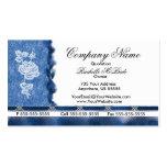 Tarjetas de visita azules elegantes del rosa blanc