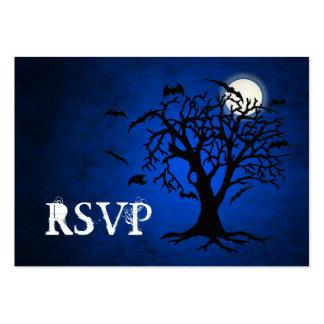 Tarjetas de visita azules extravagantemente de RSV