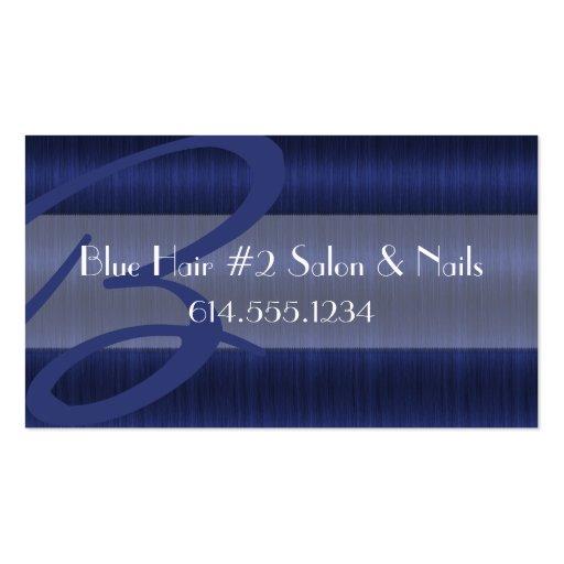 Tarjetas de visita azules más oscuras del estilist