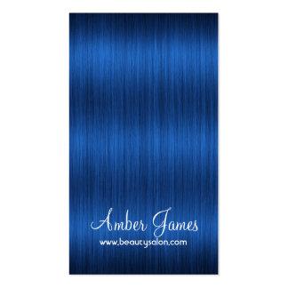 Tarjetas de visita azules onduladas largas del