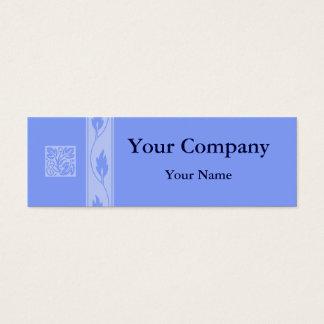Tarjetas de visita azules profesionales de la hoja