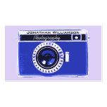 Tarjetas de visita azules retras de la fotografía