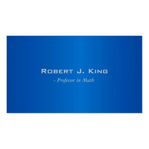 Tarjetas de visita azules simples, elegantes