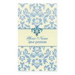 Tarjetas de visita azules y blancas simples