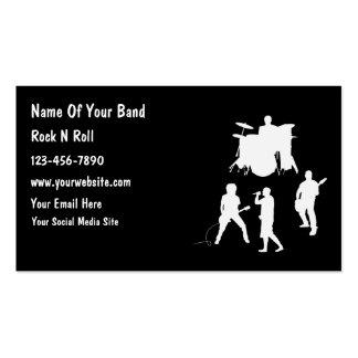 Tarjetas de visita baratas de la banda del músico
