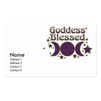 Tarjetas de visita bendecidas diosa