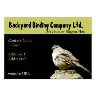 Tarjetas de visita Birdwatching de la fuente del p