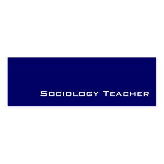 Tarjetas de visita blancas de la sociología de la