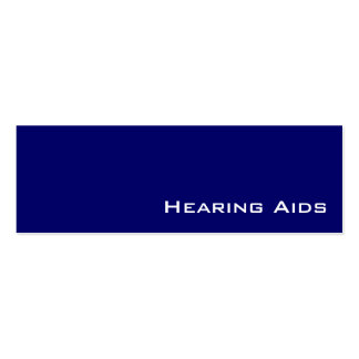 Tarjetas de visita blancas de los audífonos de la