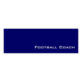 Tarjetas de visita blancas del entrenador de fútbo