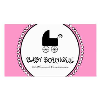 Tarjetas de visita blancas negras rosadas del bout