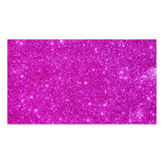 Tarjetas de visita brillantes del brillo rosado