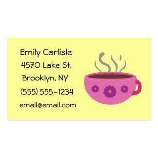 Tarjetas de visita calientes de la taza de café