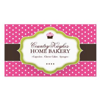 Tarjetas de visita caprichosas de la panadería