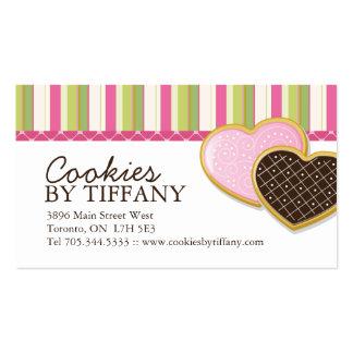 Tarjetas de visita caprichosas de las galletas del