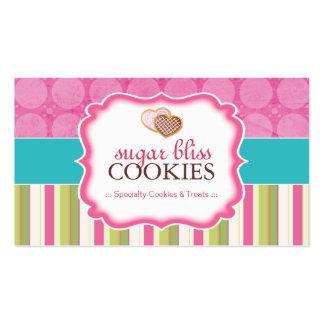 Tarjetas de visita caprichosas de las galletas