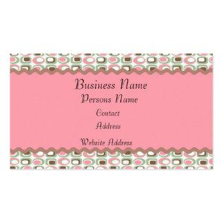 Tarjetas de visita caprichosas del damasco rosado