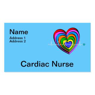 Tarjetas de visita cardiacas de la enfermera