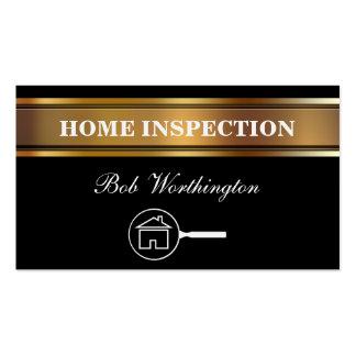 Tarjetas de visita caseras de la inspección