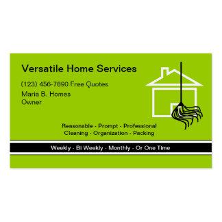 Tarjetas de visita caseras de servicios