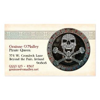 Tarjetas de visita célticas del pirata