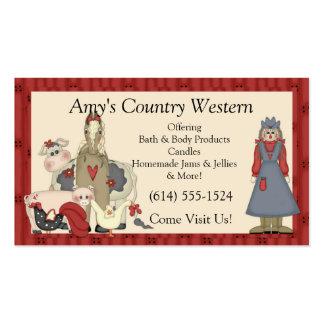 Tarjetas de visita:: Chica y animales de granja de