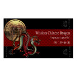 Tarjetas de visita chinas de la moneda de la sabid