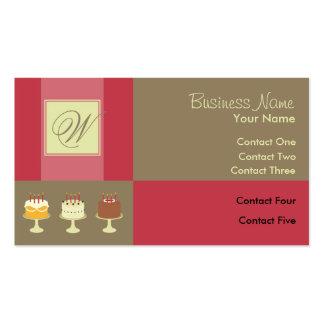 Tarjetas de visita clásicas de la torta de la cint