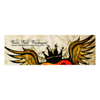 Tarjetas de visita coas alas tatuaje urbano del co