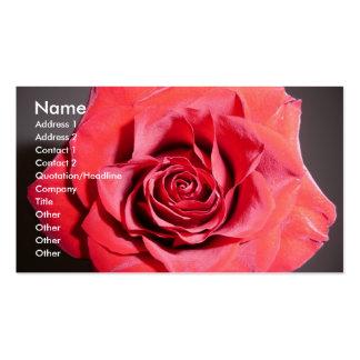 Tarjetas de visita color de rosa