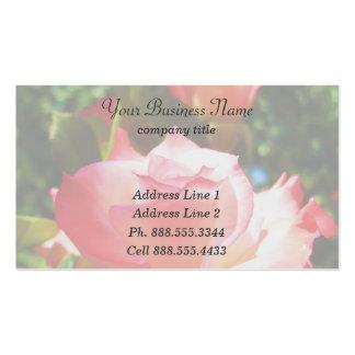 Tarjetas de visita color de rosa descoloradas