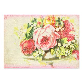Tarjetas de visita color de rosa lamentables de co