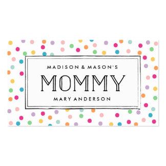 Tarjetas de visita coloridas de la mamá del