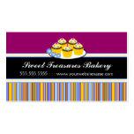 Tarjetas de visita coloridas de la panadería de la