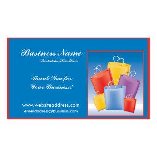 Tarjetas de visita coloridas de los bolsos de comp
