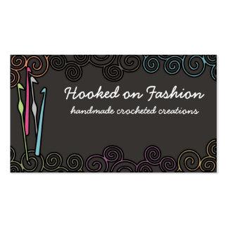 tarjetas de visita coloridas del hilado de los