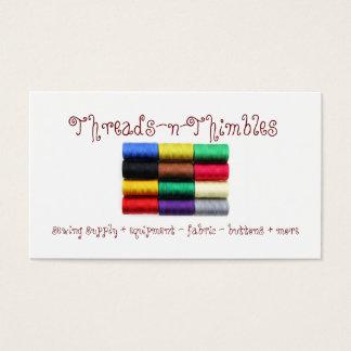 Tarjetas de visita coloridas del hilo