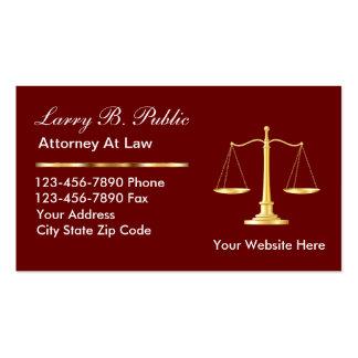 Tarjetas de visita con clase del abogado