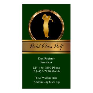 Tarjetas de visita con clase del golf