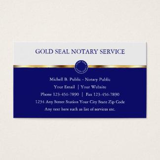 Tarjetas de visita con clase del notario público