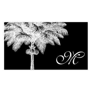 Tarjetas de visita cones monograma de la palmera n
