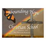 Tarjetas de visita cristianas de abundancia de la